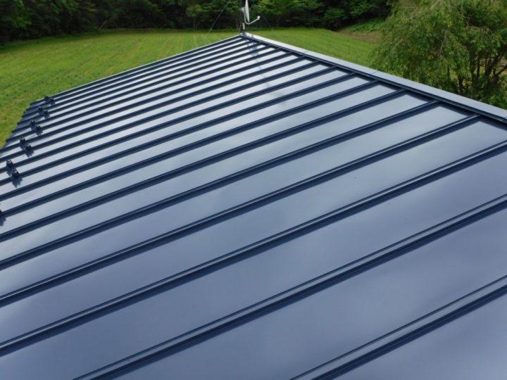 自宅屋根塗装 上塗り 完了