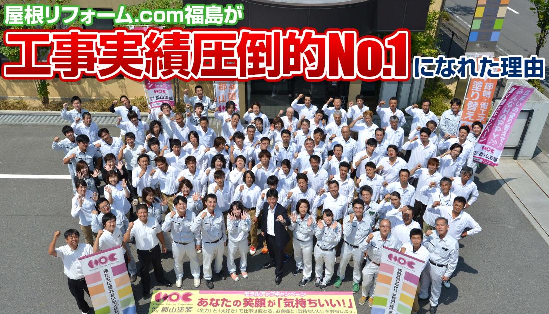 屋根リフォーム.com福島が工事実績圧倒的No.1になれた理由