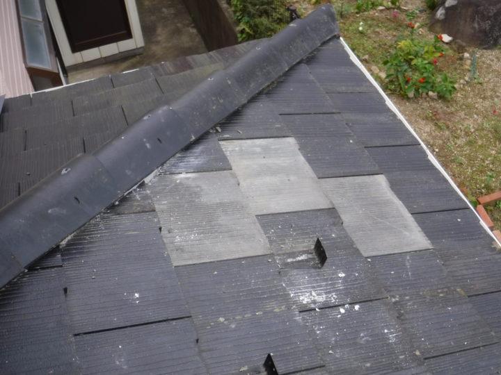 屋根塗装の瓦補修完了