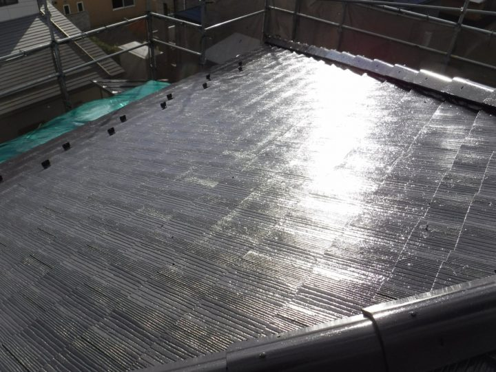 屋根塗装の完了