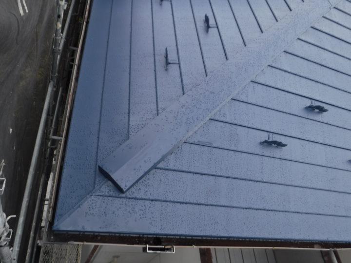 屋根の棟完了