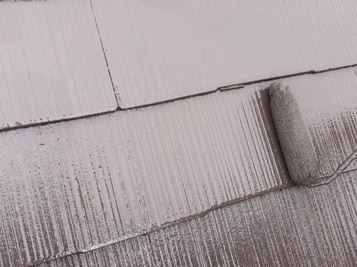 屋根 上塗り塗布
