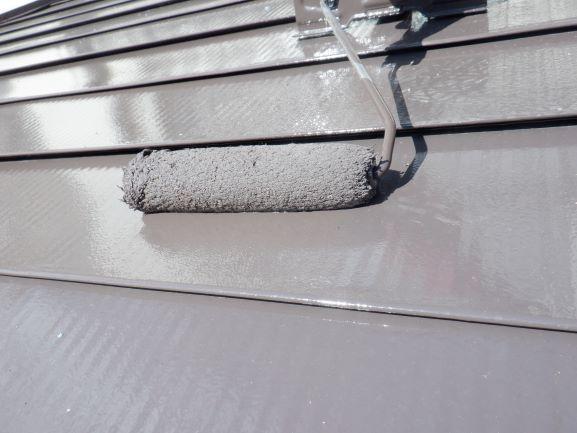 屋根 上塗り状況