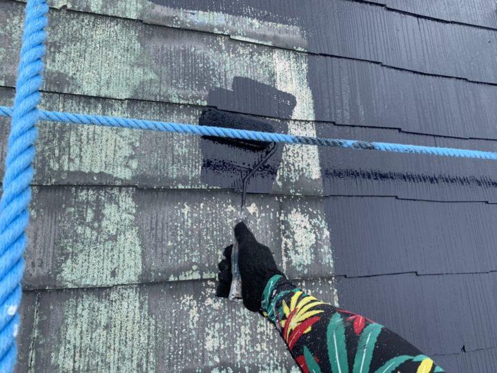 屋根 下塗り一回目