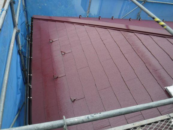 屋根施工 完了